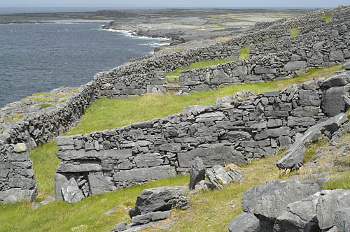 stone wall on Inis Meain (Inish Mann) Aran Islands Ireland