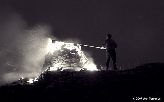 Aran Islands Bonfire Inis Meain Inish Mann