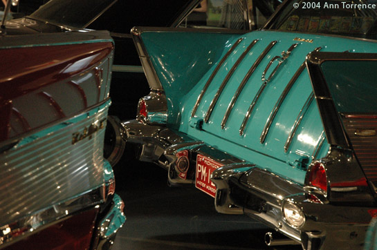 classic 1950s chevy red green