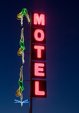 neon motel sign Mesa Arizona