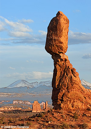 Moab Utah Balanced Rock Arches National Park watercolor remix