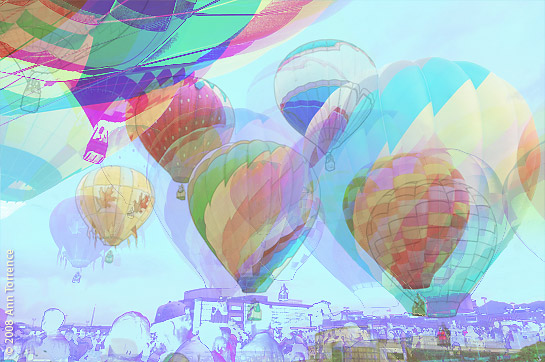 balloon remix Photoshop artistic pastel Provo Freedom Festival Balloon Launch