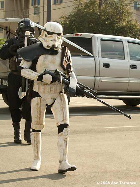 Star Wars stormtrooper costume on street Provo