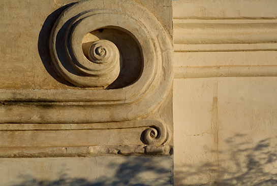 Spiral Facade Detail of San Xavier del Bac Mission