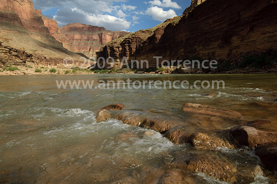 Grand Canyon National Park Colorado River rafting inner gorge sunset landscape