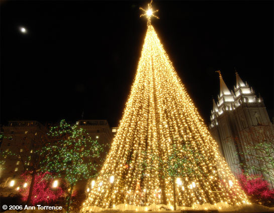Salt Lake City Temple Square Christmas lights Salt Lake City, Utah