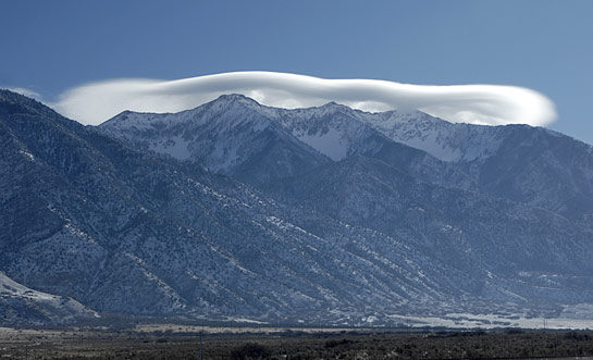 lenticular cloud over Mt. Nebo Utah