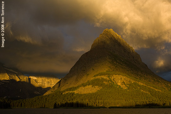 Swiftcurrent Lake Grinnell Point Sunrise, Glacier National Park