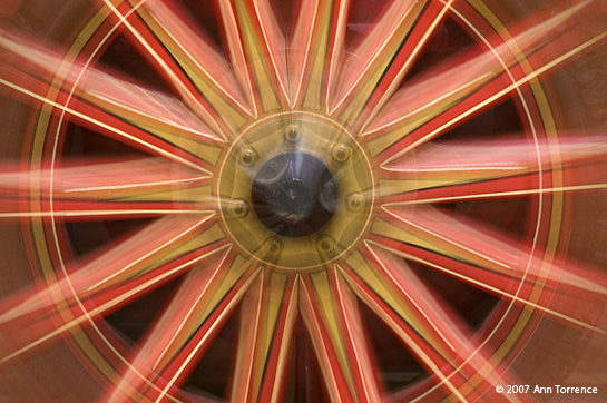 firetruck wheel abstract red gold