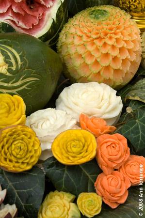 Thai fruit carving demonstration