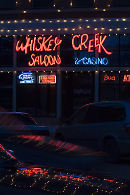 neon bar lights Livingston Montana