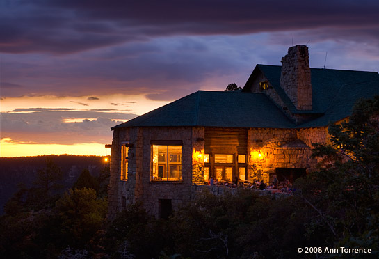 & Grand Canyon Lodge at sunset azcodes.com
