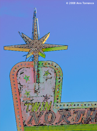 neon defunct sign north star ogden utah colorized