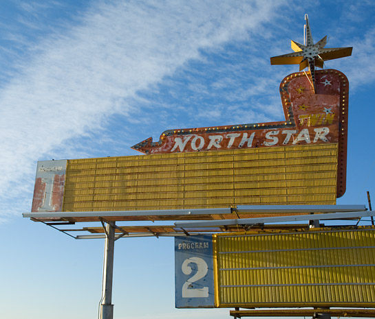 North Start movie marquee neon Ogden Utah
