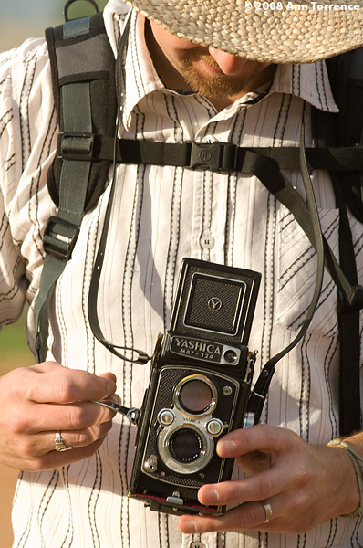 winding film camera tourist reflex camera