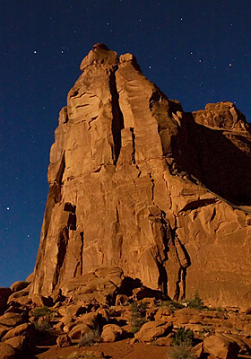 Arches National Park Park Avenue night star photography