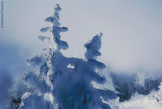 yellowstone winter watercolor blue photoshop