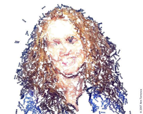 textorizer self-portrait done on a Mac