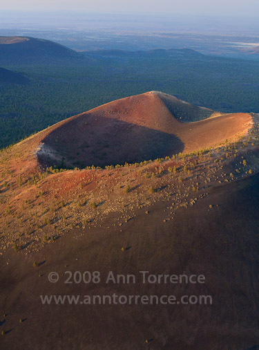 aerial view Sunset Crater Volcano National Monument Flagstaff Arizona