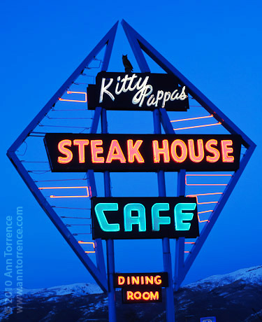 Kitty Pappas Bountiful neon sign