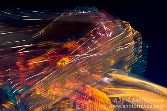 carnvial ride abstract light streaks