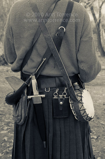 Scottish kilt and warrior gear