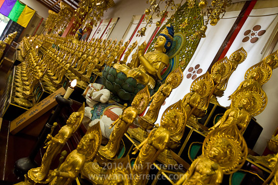 statues of Kannon and Buddha, Osu Kannon, Nagoya, Japan, Buddhist temple