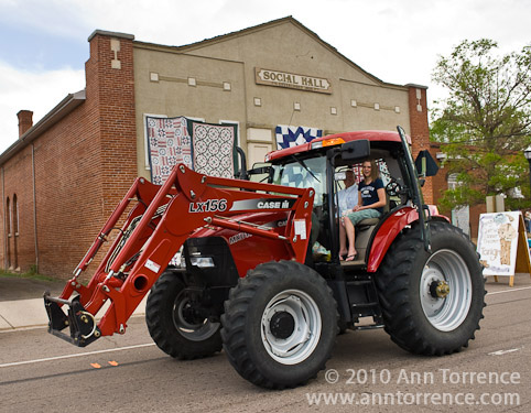 Panguitch Quilt Walk tractor parade street festival Utah
