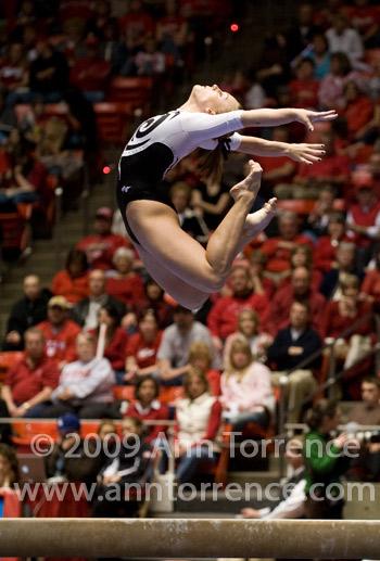 Jamie Deetscreek Utah Utes gymnastics balancebeam