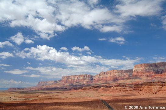 US89 US89A Vermillion Cliffs, Arizona highway aerial red rock