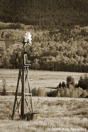 western windmill classic landscape aspen stock watering Dempster Wyoming