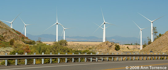 Wind farm at the mouth of Spanish Fork Canyon