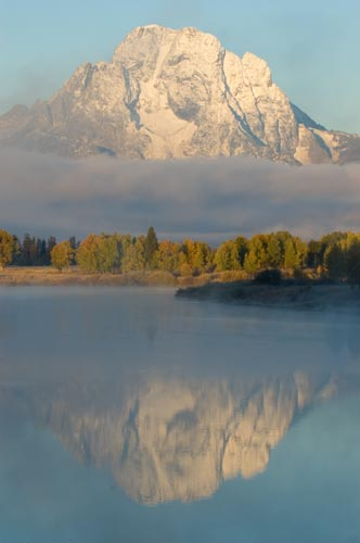 Oxbow aspen sunrise Mt Moran Grand Tetons National Park