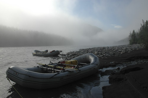 Fog on the Nahanni River, Northwest Territories, Canada