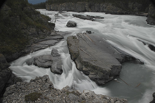 Sluice Box of the Nahanni River Northwest Territories Canada