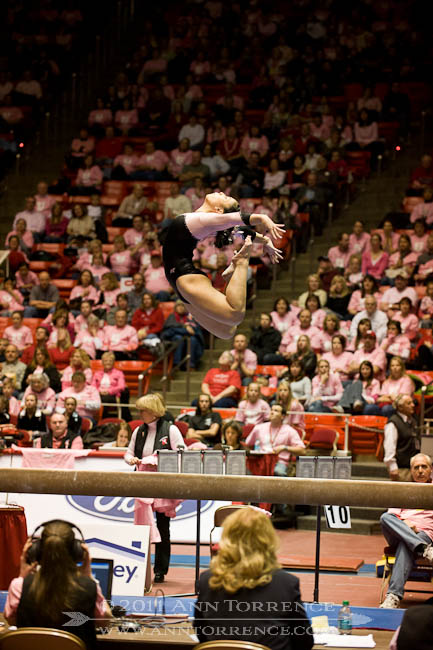 Fumina Kobayashi, balance beam, University of Utah vs Arizona State University