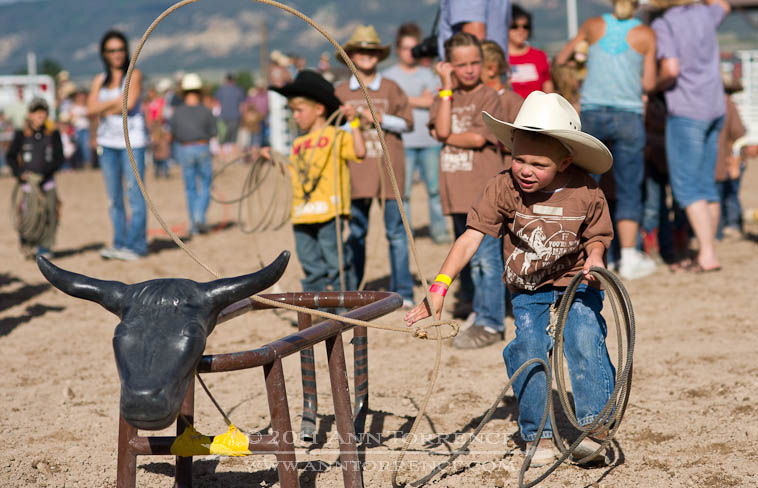 roping contest, small fry rodeo, 2011 Wayne County Fair, Loa Utah