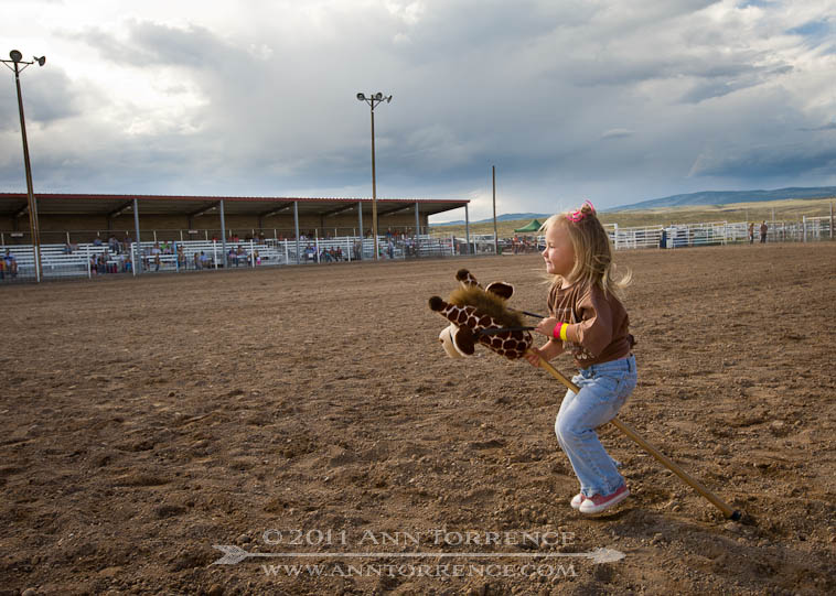 stick horse rider, small fry rodeo Wayne County Fair 2011 Loa Utah