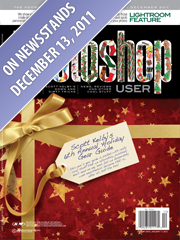 Cover of Photoshop User magazine December 2011