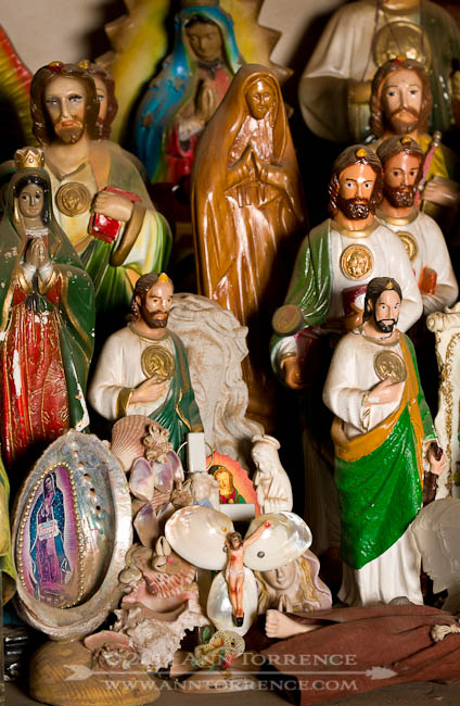 Statuettes of St. Jude at San Xavier del Bac in Tucson, Arizona