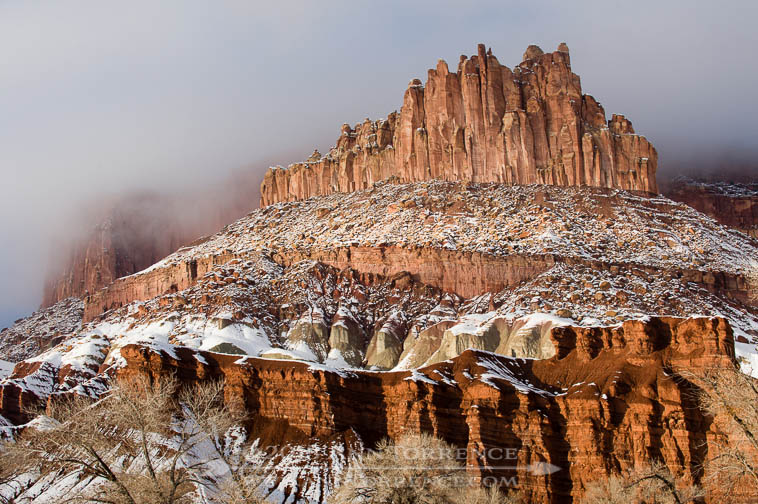 Snow on the Ramparts, Capitol Reef National Park