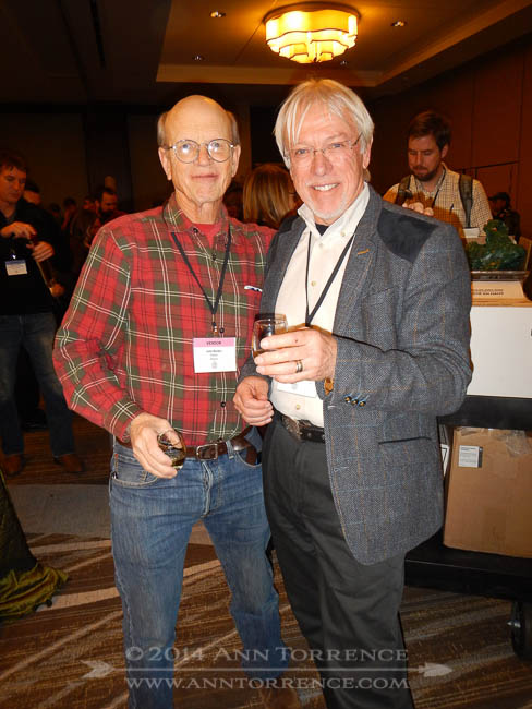 John Bunker of Fedco Trees and R toast the end of CiderCon2014