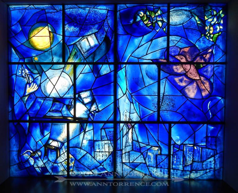 Panel from Marc Chagall's America Windows at the Chicago Art Institute