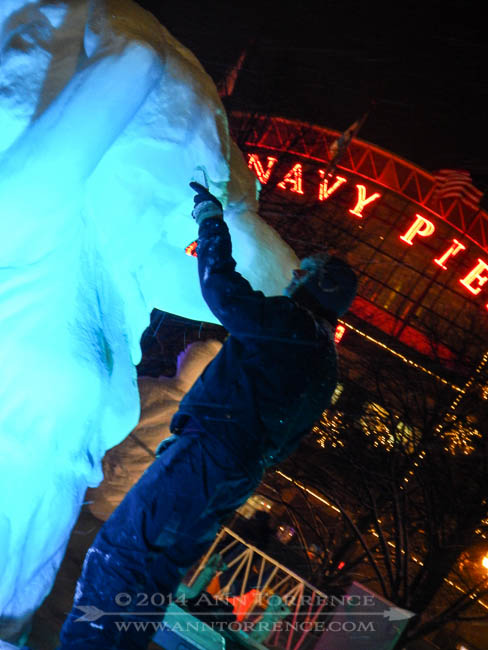 Winter Wonder Fest was going on outside the Navy Pier. Yes it was that cold in Chicago and we still had a wonderful time.