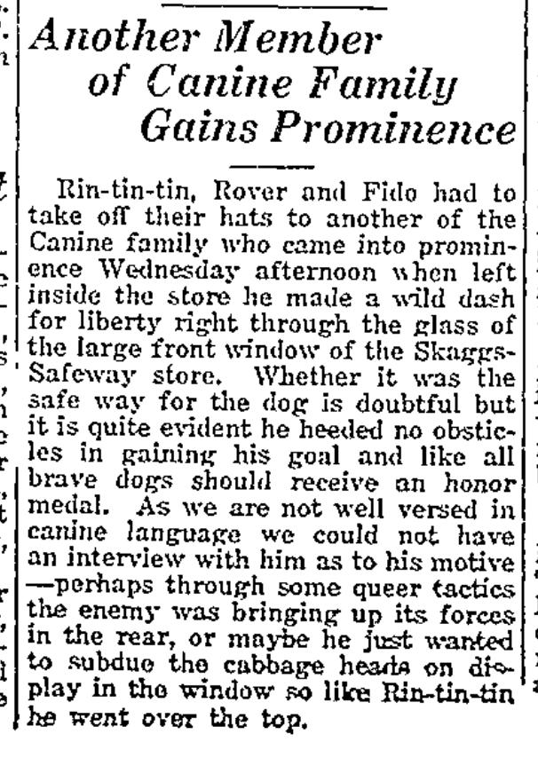 Richfield Reaper, 20 January 1927