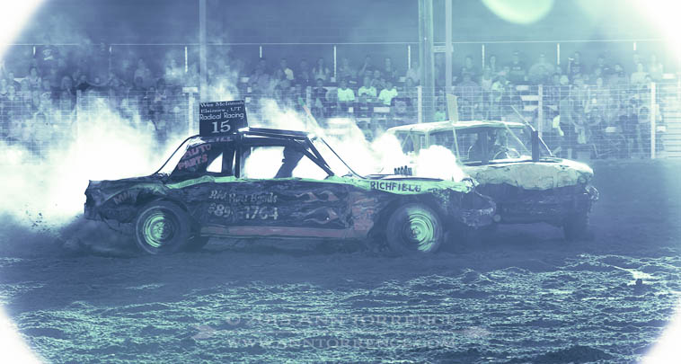 2014Wayne County Fair demolition derby
