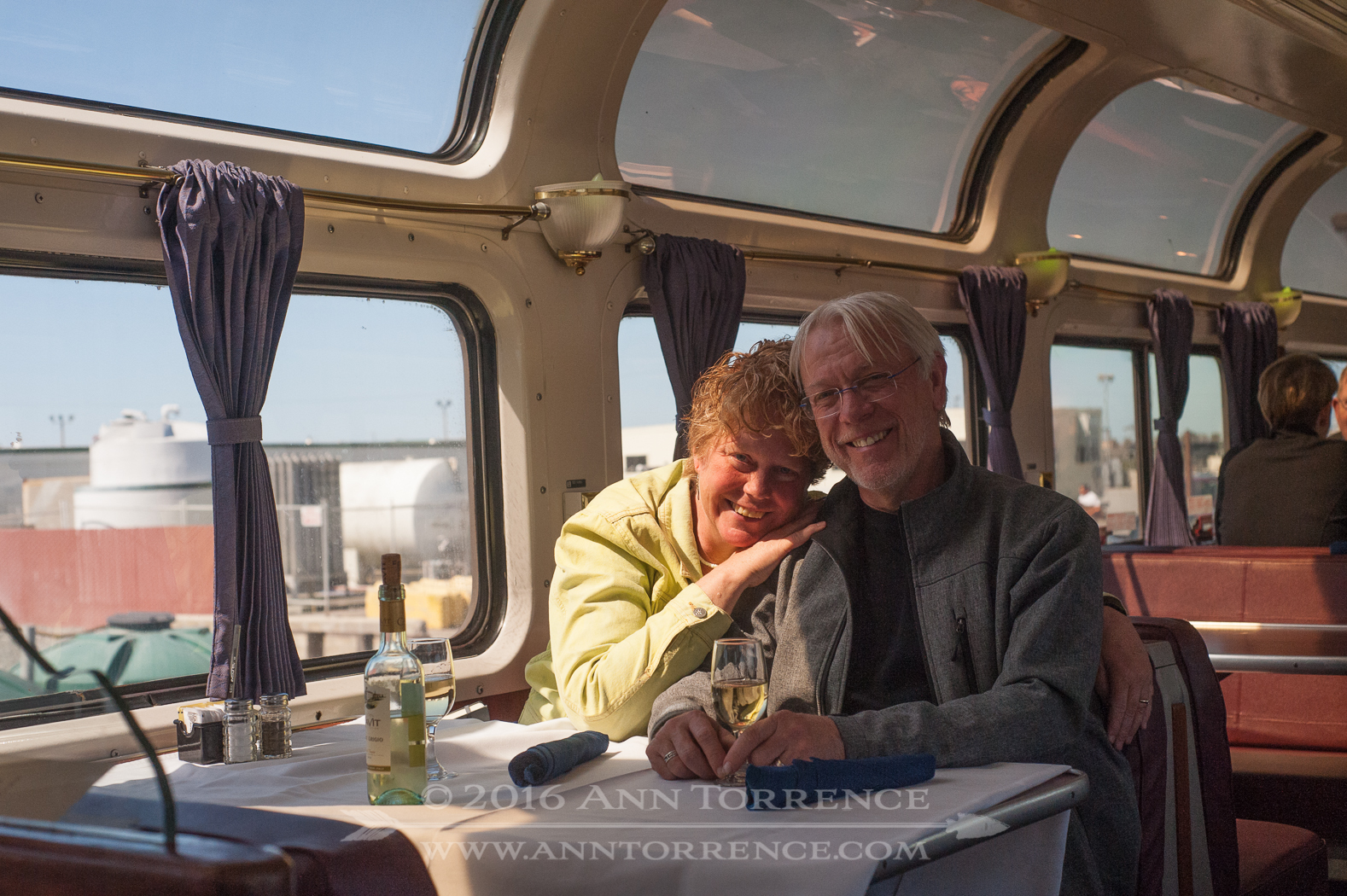 Aboard the California Zephyr between Seattle and Santa Barbara