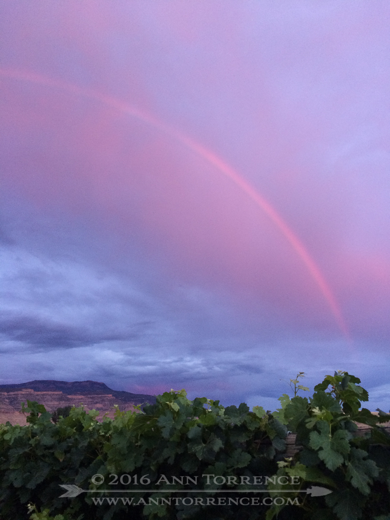 Red rainbow, Palisade, CO