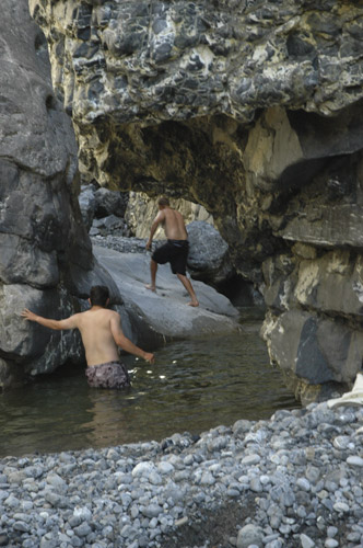 Lafferty Creek swimming hole a tributary to the Nahanni River Northwest Territories, Canada