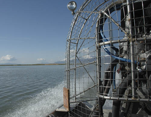 airboat on the Great Salt Lake